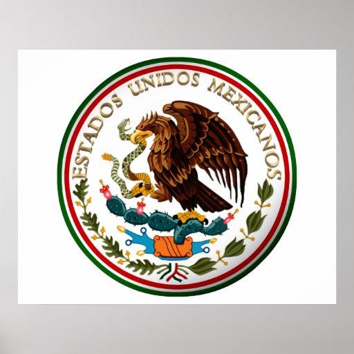 Estados Unidos Mexicanos (Eagle from Mexican Flag) Poster