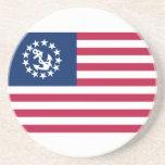Estados Unidos navegan la bandera Posavasos Manualidades