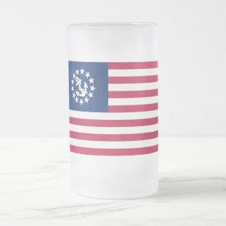 Estados Unidos navegan la bandera Taza De Cristal