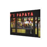 Estados Unidos, Nueva York. La papaya del gris: Impresión En Lienzo