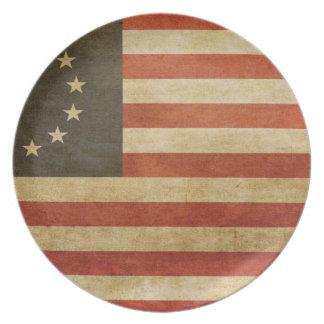 Estados Unidos originales señalan por medio de una Plato De Cena