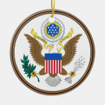 Estados Unidos * ornamento de encargo del navidad Adorno Redondo De Cerámica