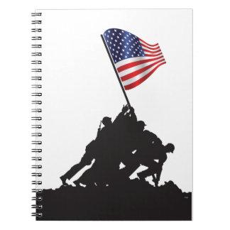 Estados Unidos, patriota, bandera y militares Libros De Apuntes