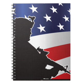 Estados Unidos, patriota, bandera y militares Libro De Apuntes