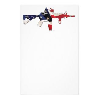Estados Unidos, patriota, bandera y militares Papeleria Personalizada