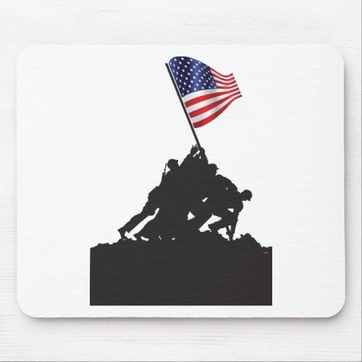 Estados Unidos, patriota, bandera y militares Alfombrillas De Ratones