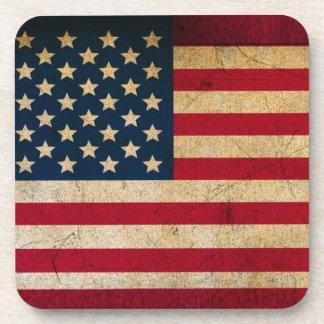 Estados Unidos patrióticos señalan por medio de un Posavaso