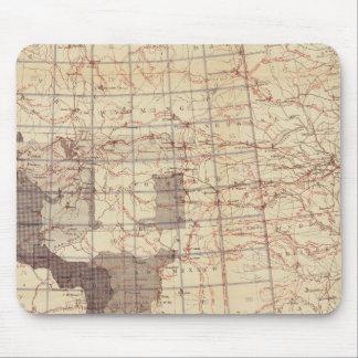Estados Unidos progresan mapa de rutas y de estaci Alfombrillas De Ratón