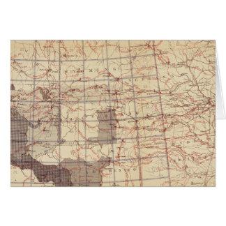 Estados Unidos progresan mapa de rutas y de estaci Tarjeta De Felicitación