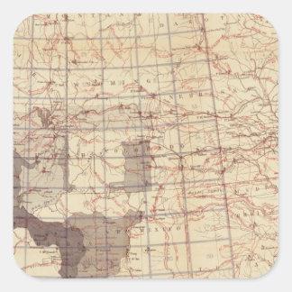 Estados Unidos progresan mapa de rutas y de Pegatina Cuadrada
