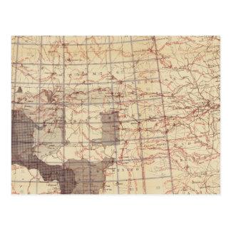 Estados Unidos progresan mapa de rutas y de Tarjetas Postales
