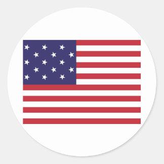 Estados Unidos protagonizan la bandera Spangled de Pegatina Redonda
