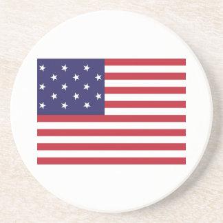 Estados Unidos protagonizan la bandera Spangled de Posavasos De Arenisca