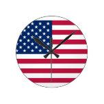 Estados Unidos Reloj Redondo Mediano