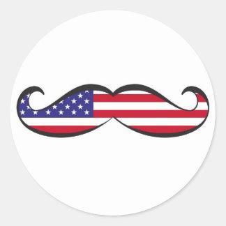 Estados Unidos señalan el bigote por medio de una Pegatina Redonda