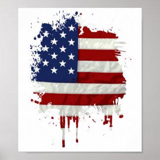Estados Unidos señalan la salpicadura de la pintur