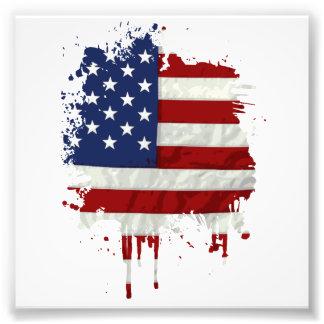 Estados Unidos señalan la salpicadura de la pintur Impresiones Fotográficas