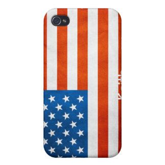 Estados Unidos señalan por medio de una bandera co iPhone 4 Carcasas