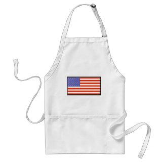 Estados Unidos señalan por medio de una bandera Delantal