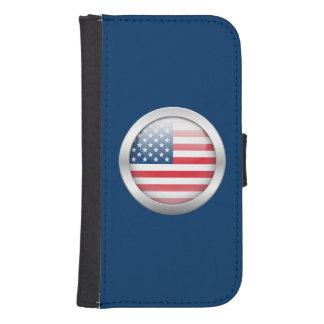 Estados Unidos señalan por medio de una bandera en Billetera Para Teléfono
