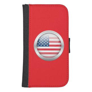Estados Unidos señalan por medio de una bandera en Fundas Tipo Billetera Para Galaxy S4