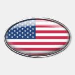 Estados Unidos señalan por medio de una bandera en Pegatina Ovalada
