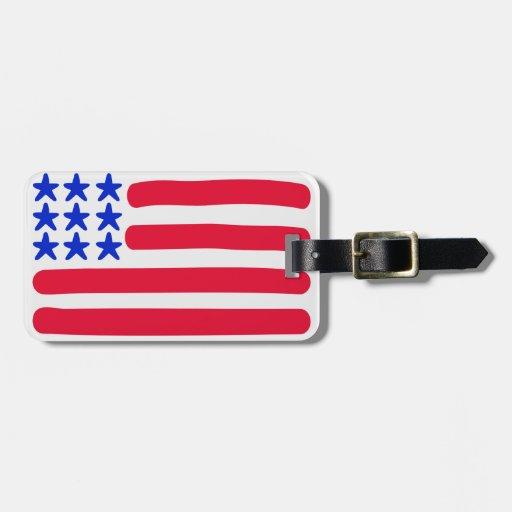 Estados Unidos señalan por medio de una bandera Etiquetas Bolsas
