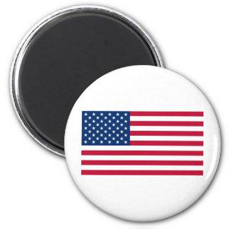 Estados Unidos señalan por medio de una bandera Imán Redondo 5 Cm