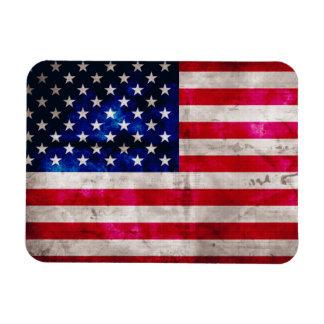 Estados Unidos señalan por medio de una bandera Rectangle Magnet