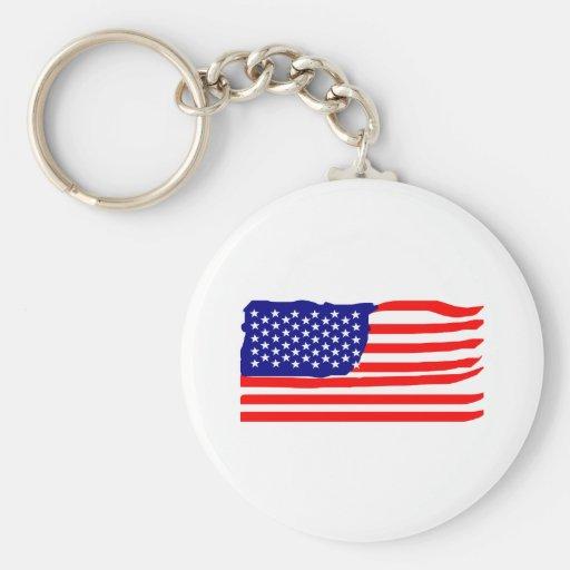Estados Unidos señalan por medio de una bandera Llavero
