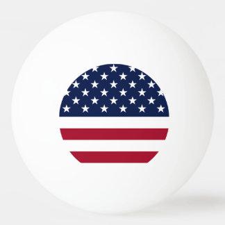 Estados Unidos señalan por medio de una bandera Pelota De Ping Pong