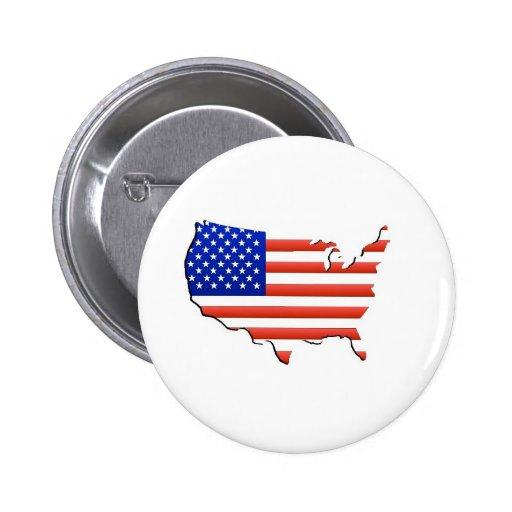 Estados Unidos señalan por medio de una bandera Pins