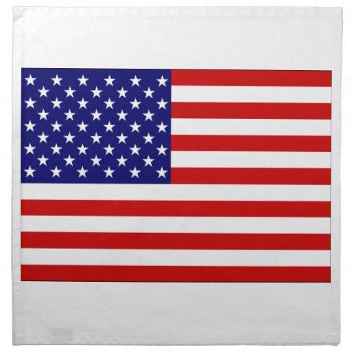 Estados Unidos señalan por medio de una bandera Servilletas
