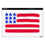 Estados Unidos señalan por medio de una bandera Calcomanía Para 43,2cm Portátil