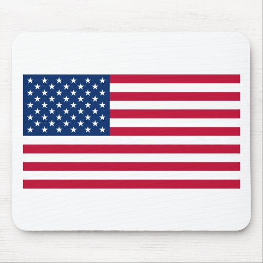 Estados Unidos señalan por medio de una bandera Tapetes De Ratón