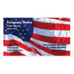 Estados Unidos señalan por medio de una bandera Plantilla De Tarjeta De Visita