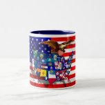 Estados Unidos señalan por medio de una bandera Taza De Café
