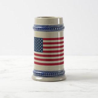 Estados Unidos señalan por medio de una bandera Jarra De Cerveza