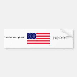 Estados Unidos señalan verdad por medio de una ban Pegatina De Parachoque