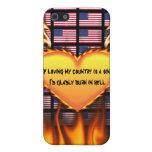 Estados Unidos, si el amor de mi país es un pecado iPhone 5 Carcasa