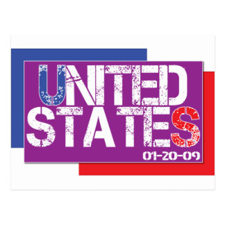 Estados Unidos son púrpuras Postales