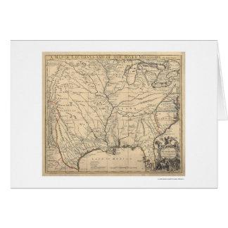 Estados Unidos tempranos trazan por Senex 1721 Tarjeta De Felicitación