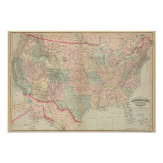 Estados Unidos territorios Impresiones