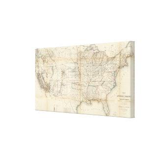Estados Unidos, territorios Impresiones De Lienzo