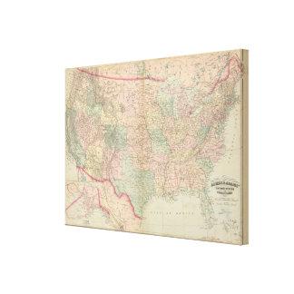 Estados Unidos, territorios Lona Estirada Galerías