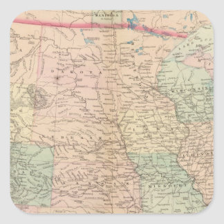 Estados Unidos territorios Calcomanía Cuadradas Personalizadas