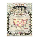 Estados Unidos trazan 1876 Impresión En Lona