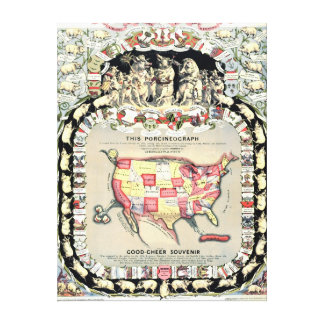 Estados Unidos trazan 1876 Impresión En Lona Estirada