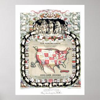 Estados Unidos trazan 1876 Poster