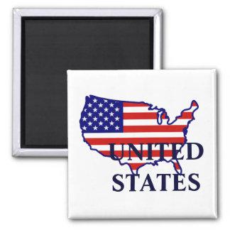 Estados Unidos trazan el imán de la bandera